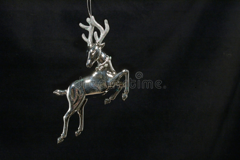 Download Boże Narodzenie Ornamentu Reniferów Srebra Zdjęcie Stock - Obraz: 44420