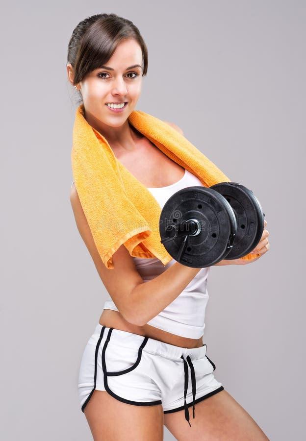 Bo en sund livsstil!  Var den muskulösa kroppen! royaltyfri foto