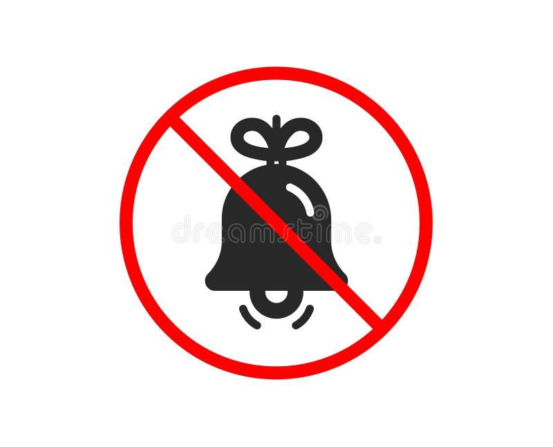 Bo?enarodzeniowego dzwonu ikona Nowy rok dekoraci drzewny znak wektor ilustracji
