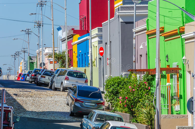 Bo Kaap, улица Кейптауна стоковые изображения rf