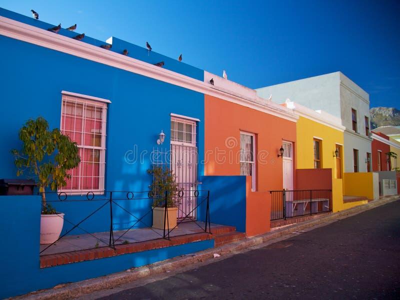 BO-Kaap districto, Ciudad del Cabo, Suráfrica imágenes de archivo libres de regalías