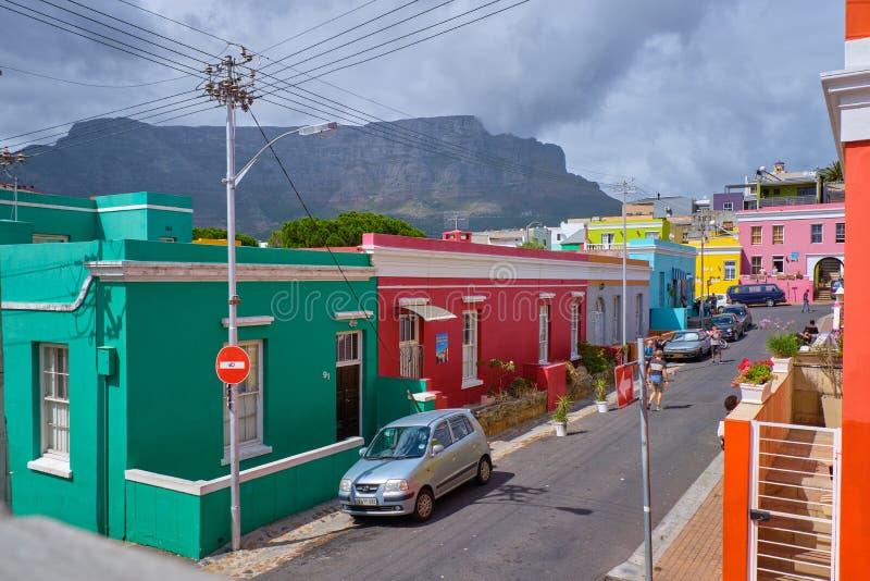 BO Kaap, Kaapstad stock foto