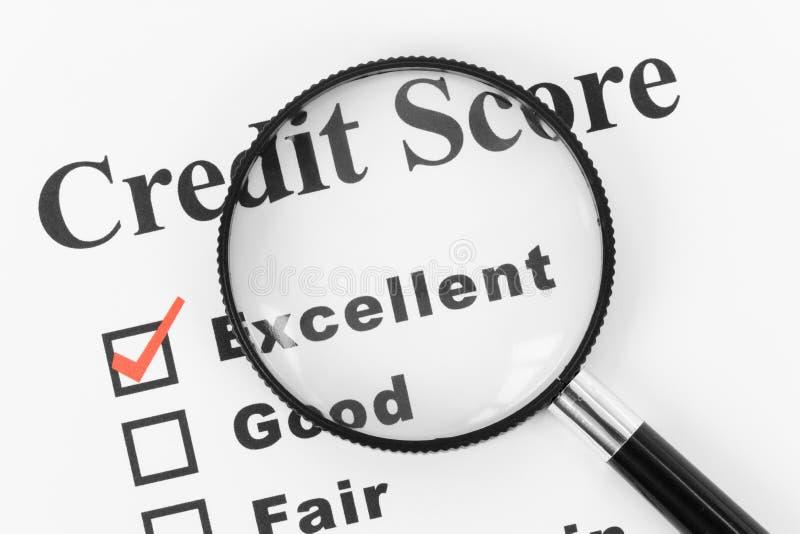 Boa contagem de crédito imagens de stock
