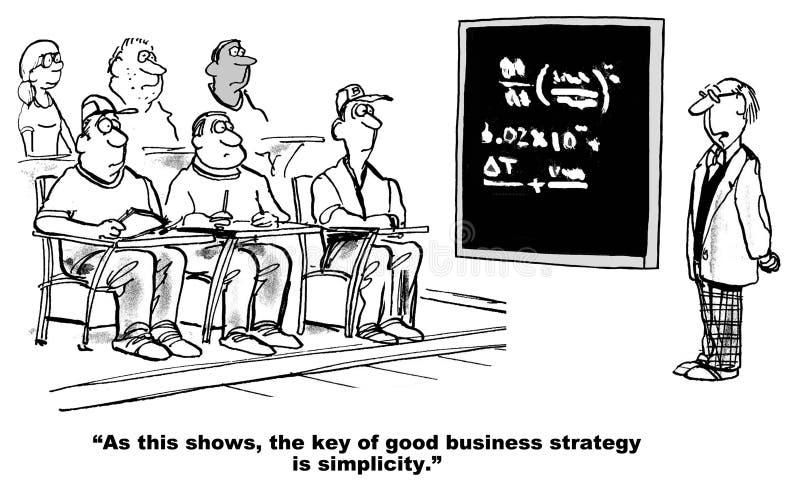 A boa estratégia empresarial é simples ilustração stock