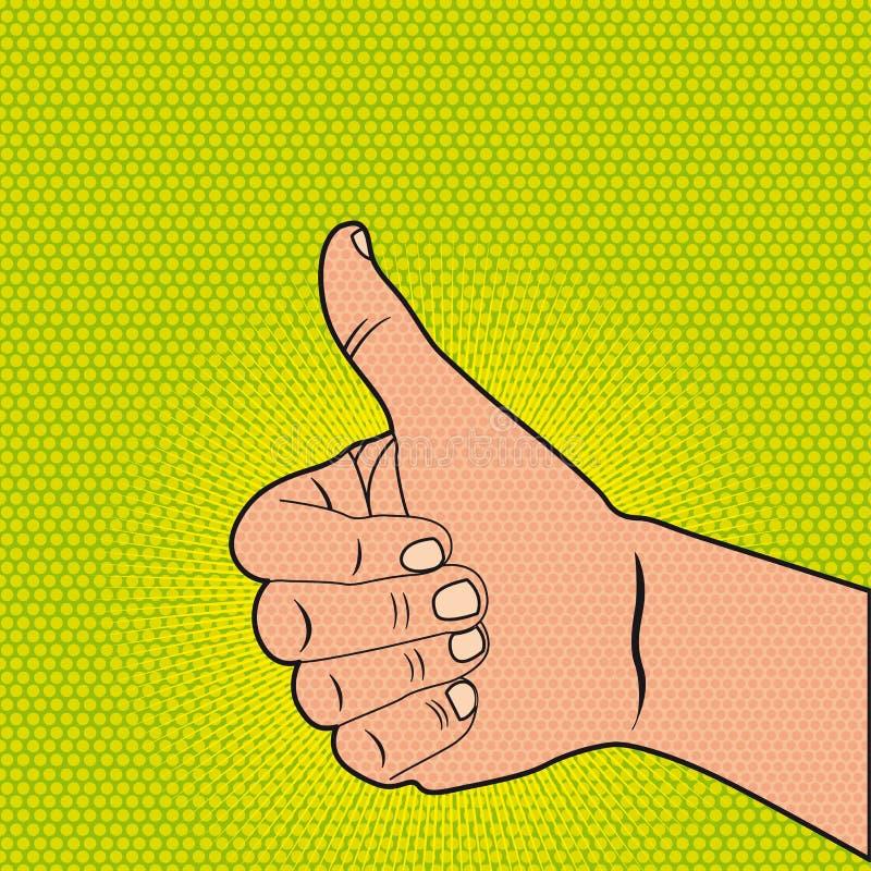 Boa mão ilustração stock