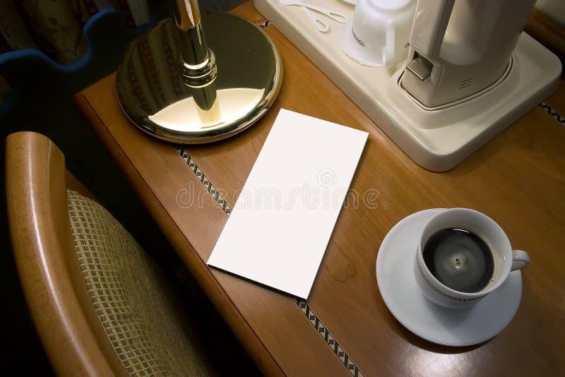 Boa manhã com café e letra fotos de stock royalty free