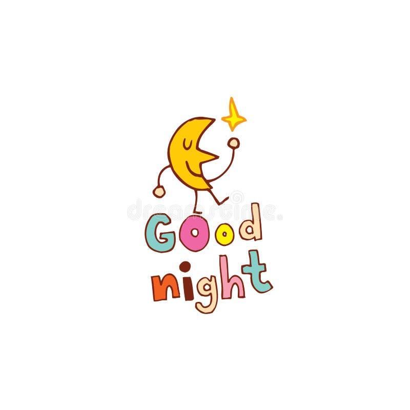 Boa noite ilustração royalty free