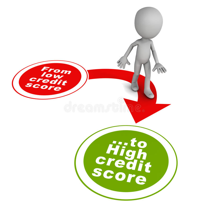 Boa pontuação de crédito ilustração royalty free