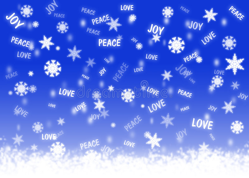 Boa queda de neve dos desejos fotografia de stock royalty free