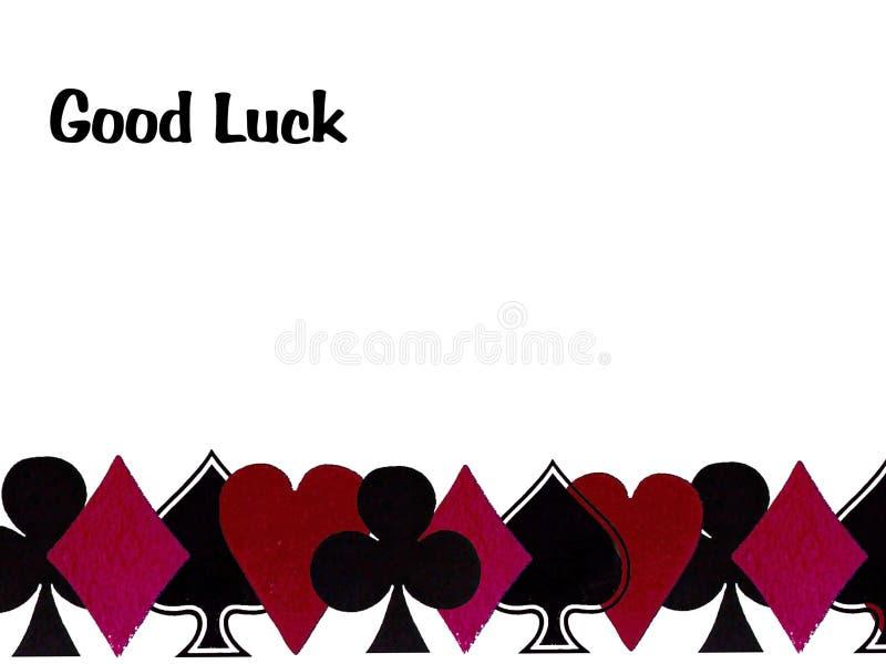 Boa sorte com cartões de jogo ilustração stock
