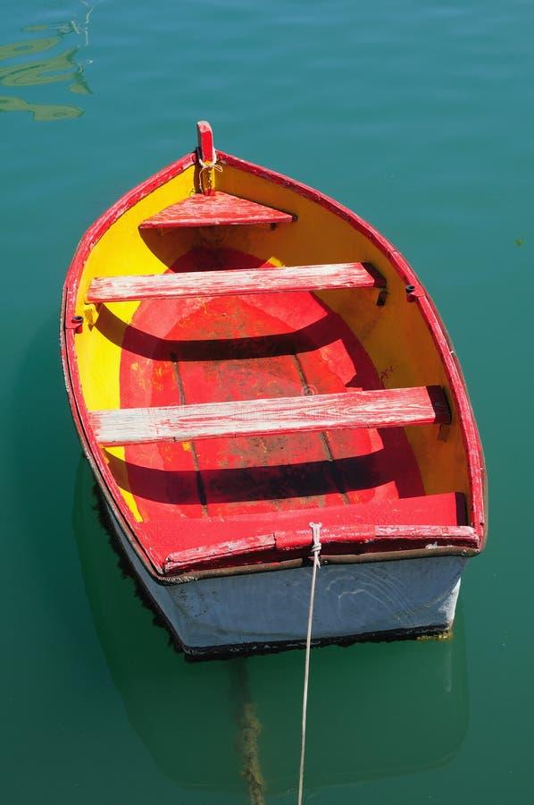 Boa vermelha velha da pesca fotografia de stock royalty free