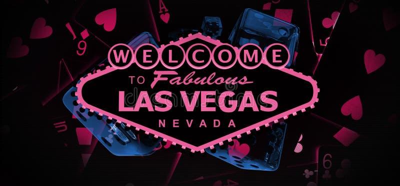 Boa vinda à bandeira de Vegas ilustração stock