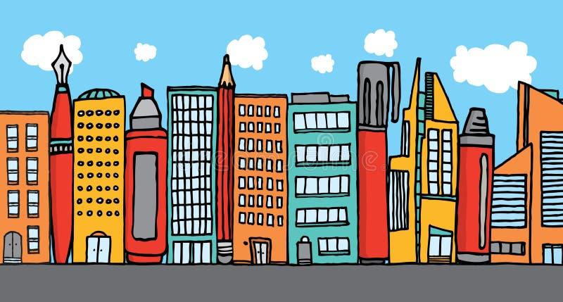Boa vinda à cultura da cidade da arte ilustração do vetor