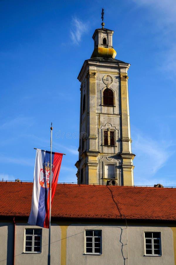 Boa vinda à Sérvia imagens de stock