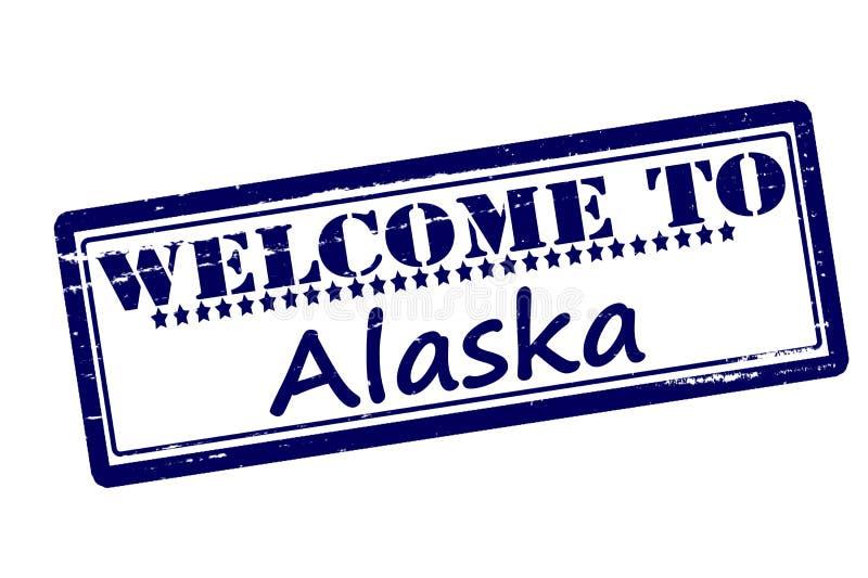 Boa vinda a Alaska ilustração do vetor