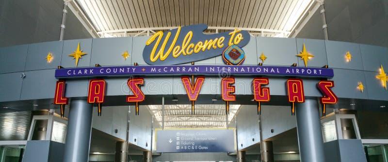 Boa vinda ao aeroporto de Las Vegas - LAS VEGAS/NEVADA - 20 de outubro de 2017 fotografia de stock