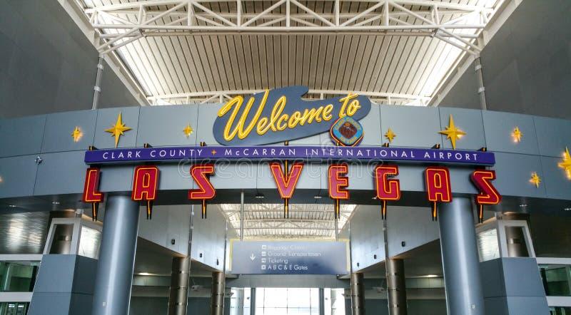 Boa vinda ao aeroporto de Las Vegas - LAS VEGAS/NEVADA - 20 de outubro de 2017 imagens de stock royalty free