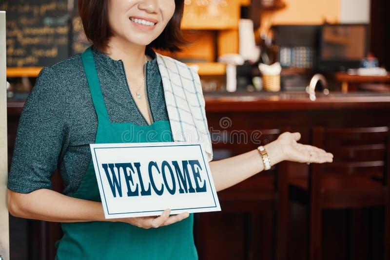 Boa vinda ao bar foto de stock royalty free