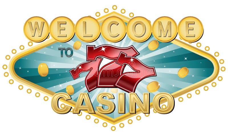 Boa vinda ao casino ilustração do vetor