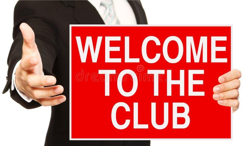 Boa vinda ao clube imagem de stock royalty free