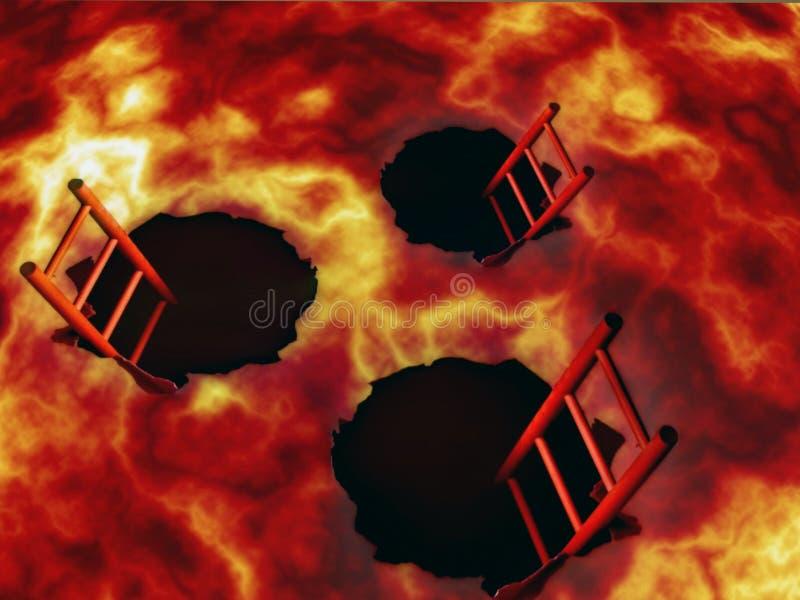 Boa vinda ao inferno A entrada ao inferno para pecadores ilustração do vetor