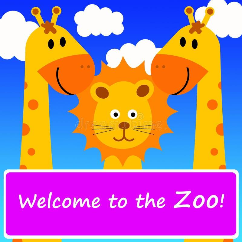 Boa vinda ao jardim zoológico ilustração stock