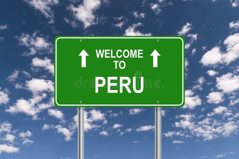 Boa vinda ao Peru ilustração royalty free