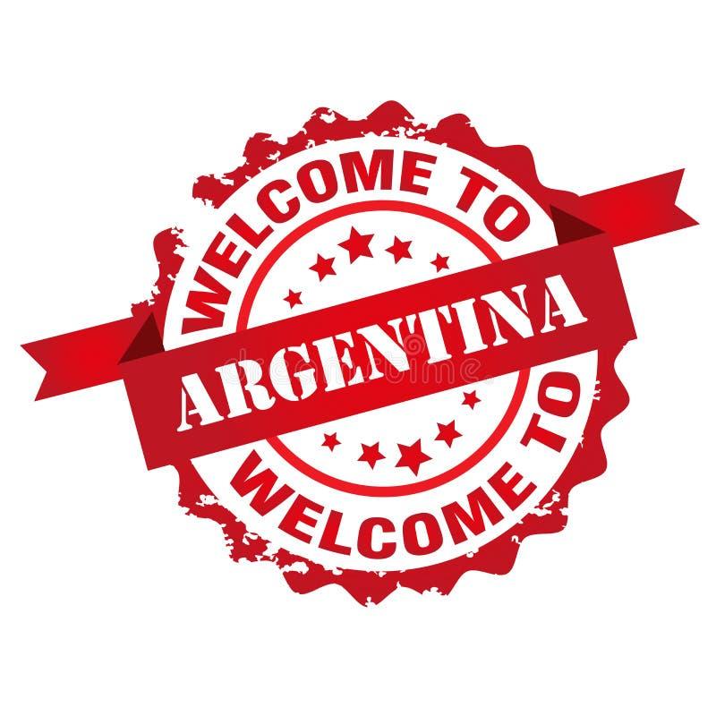Boa vinda ao selo de Argentina ilustração stock