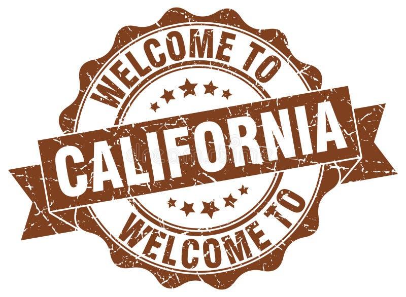 Boa vinda ao selo de Califórnia ilustração stock