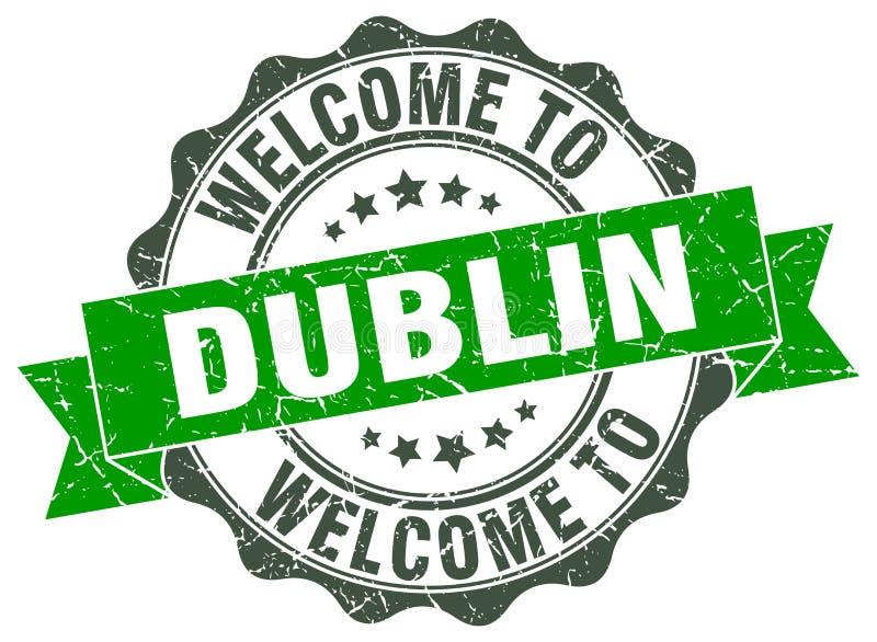 Boa vinda ao selo de Dublin ilustração do vetor