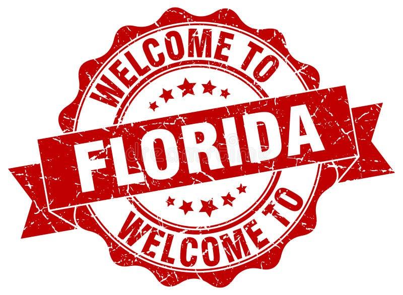 Boa vinda ao selo de Florida ilustração stock