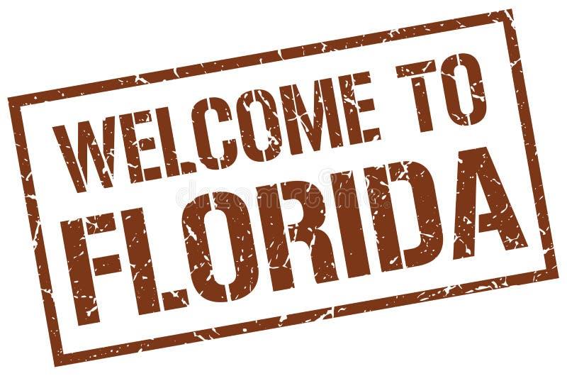 boa vinda ao selo de Florida ilustração royalty free