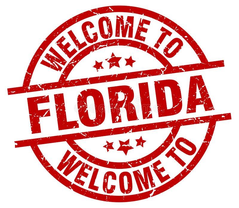 boa vinda ao selo de Florida ilustração do vetor