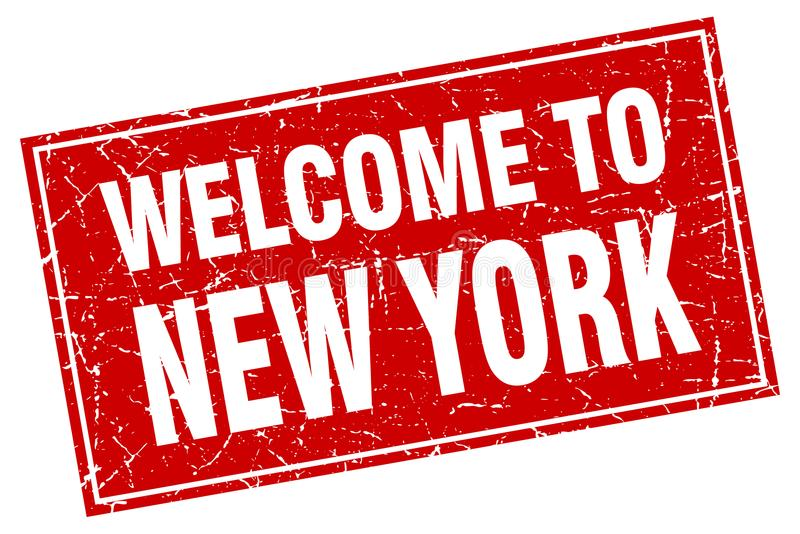 Boa vinda ao selo de New York ilustração royalty free