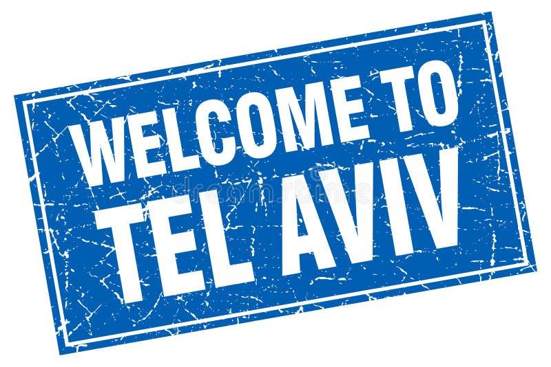 boa vinda ao selo de Tel Aviv ilustração do vetor