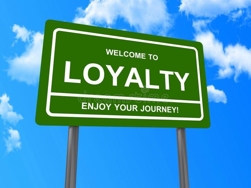 Boa vinda ao sinal da lealdade ilustração royalty free