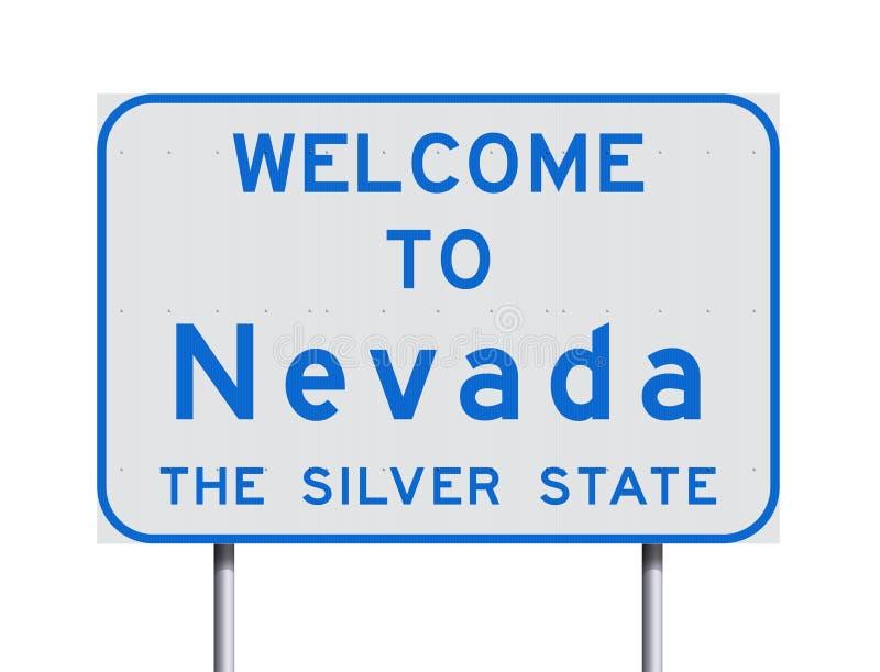 Boa vinda ao sinal de estrada de Nevada ilustração stock