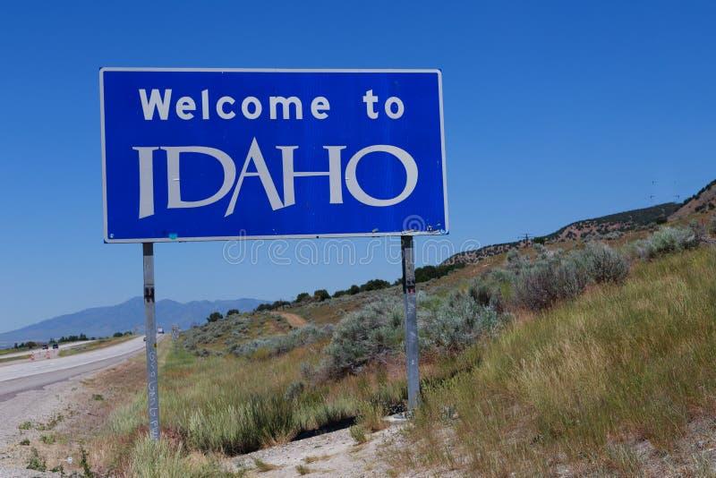 Boa vinda ao sinal de Idaho foto de stock royalty free