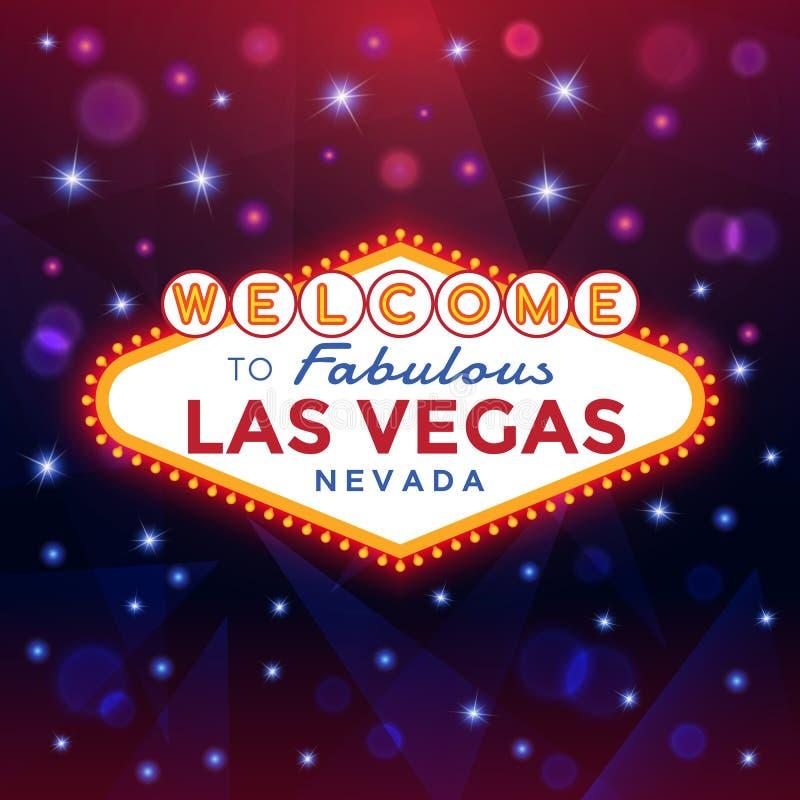 Boa vinda ao sinal de Las Vegas ilustração royalty free