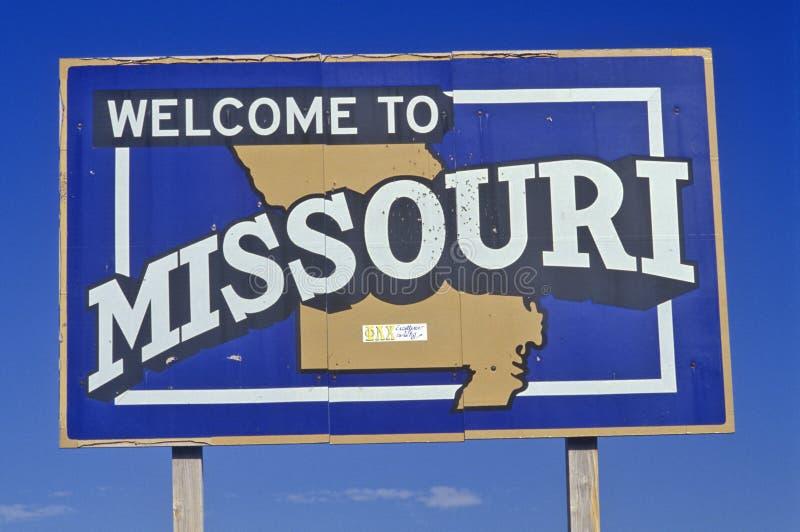 Boa vinda ao sinal de Missouri imagem de stock royalty free
