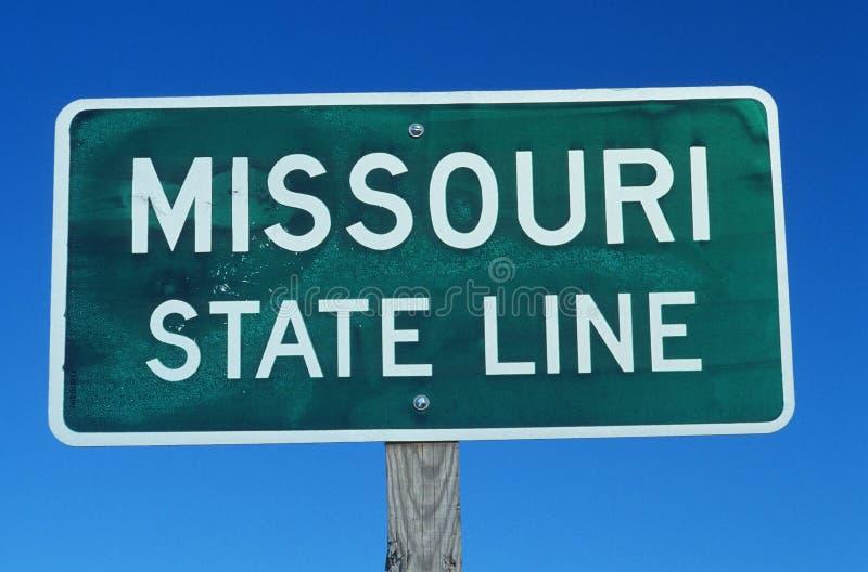 Boa vinda ao sinal de Missouri fotos de stock royalty free