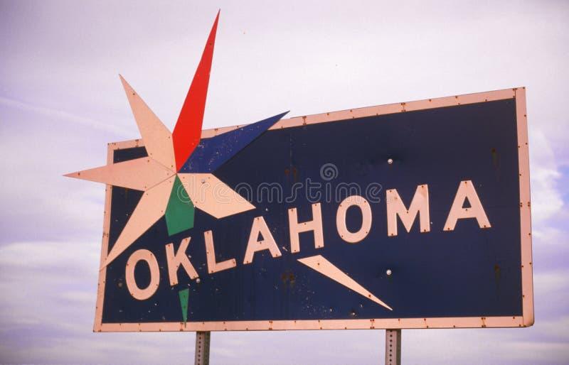 Boa vinda ao sinal de Oklahoma fotografia de stock