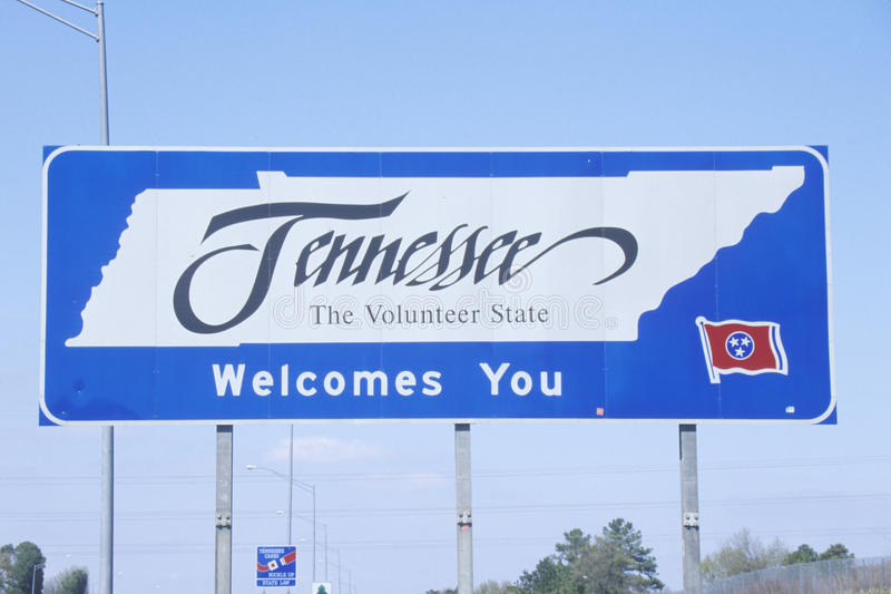 Boa vinda ao sinal de Tennessee foto de stock