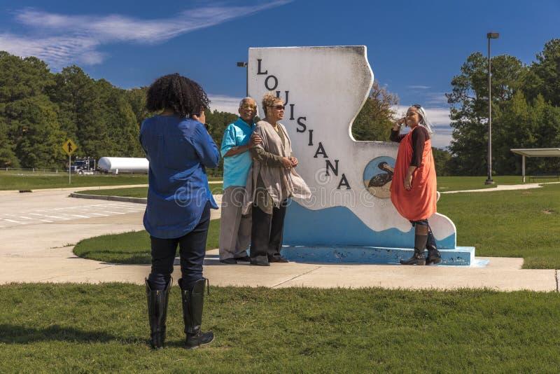 Boa vinda ao sinal do estado de Louisiana fotografia de stock royalty free