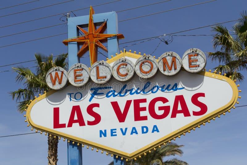 Boa vinda ao sinal fabuloso de Las Vegas fotografia de stock