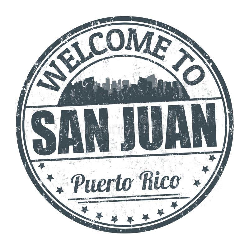 Boa vinda ao sinal ou ao selo de San Juan ilustração do vetor