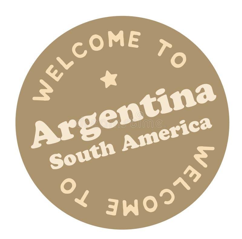 Boa vinda a Argentina Ámérica do Sul ilustração do vetor