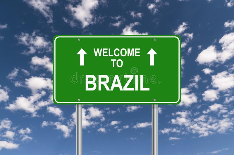 Boa vinda a Brasil imagens de stock royalty free