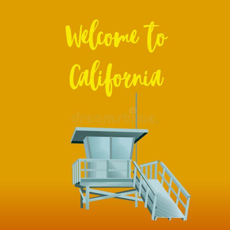 Boa vinda a Califórnia ilustração do vetor