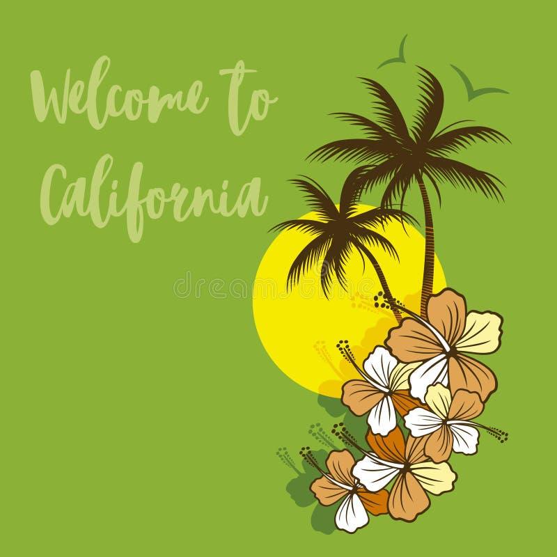 Boa vinda a Califórnia ilustração stock
